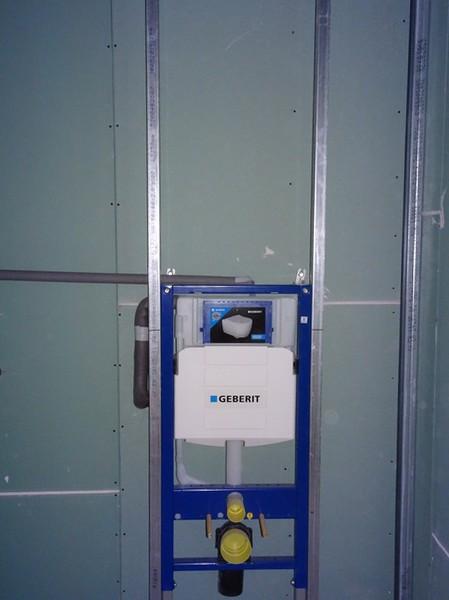 Vorbereitung für das Personal-WC.