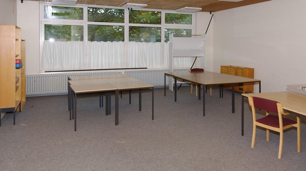 Ganz schön leer das Lehrerzimmer.