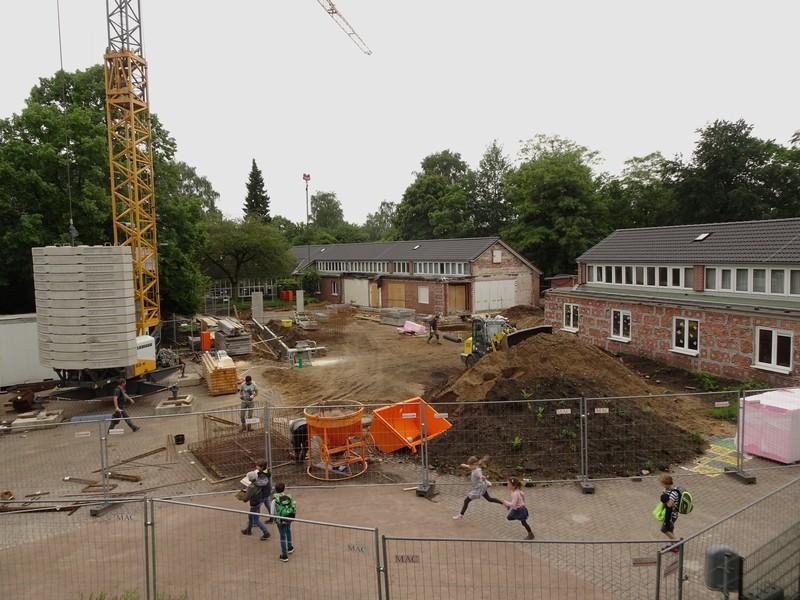 Übersicht über die Baustelle