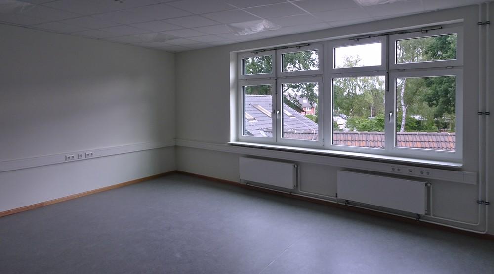 Auch Lehrerzimmer und -büro sind fertig.