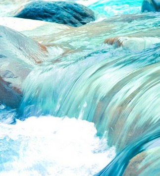 Erleuchtung ist wie das freie Fließen in einem natürlichen Bachlauf