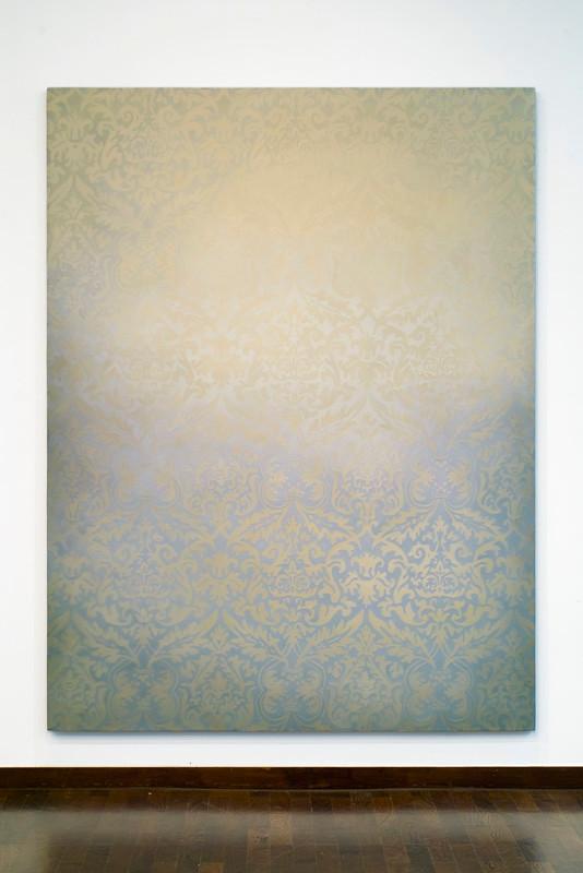 apparition 2015  Kunstharz, Steinmehl, Ölfarbe auf Leinwand  210 x 160 cm