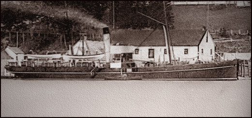 Le steamer «La Canadienne II» au port de Gaspé