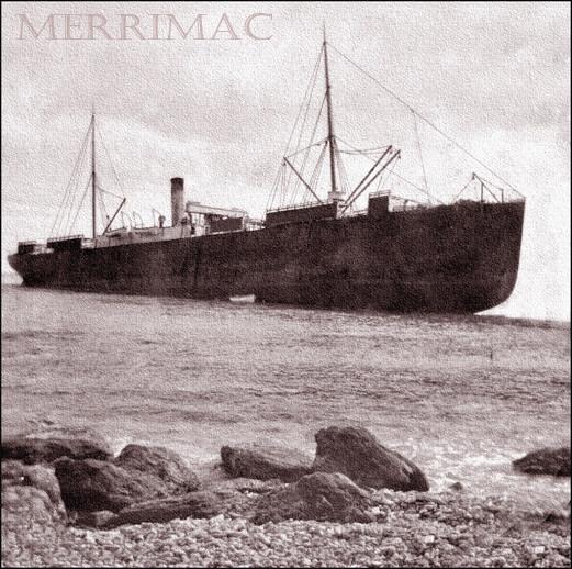Le Merrimac échoué au Cap de l'Est, Anticosti en juillet 1899