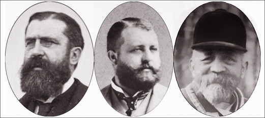 Gaston (1855-1934), Albert (1824-1899) et Henri Menier (1853-1913)