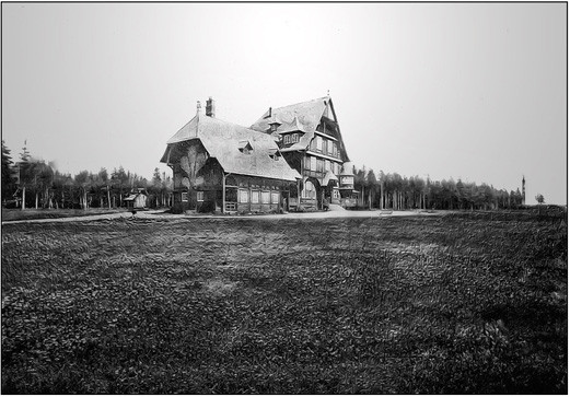 Fig. 42 - Villa Menier et phare, vue du sud-ouest