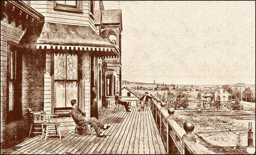Hôtel Roberval en 1895 (source: Livernois)