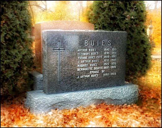 Au cimetière Belmont, à Ste-Foy