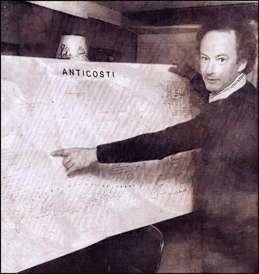 M. Luc Jobin, initiateur du projet de dévoilement d'un monument à Louis Jolliet à l'île Anticosti (1980)