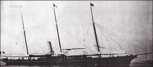 Nemesis à Albert Menier, le premier yacht français à avoir croisé en mer de Chine.