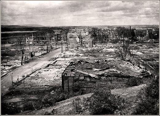 Hull détruit par le feu en 1900