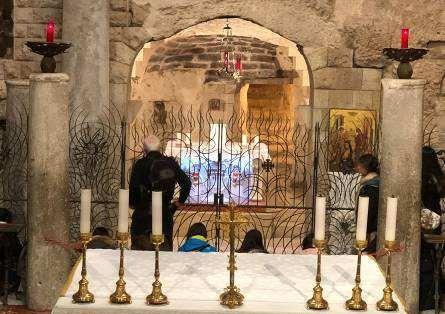 Cripta de Nazaret, donde el Verbo se hizo carne, de María Virgen
