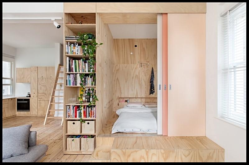 Piccola casa giapponese minimal