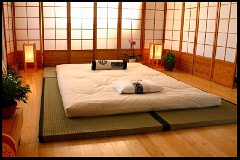 Tradizionale camera da letto giapponese
