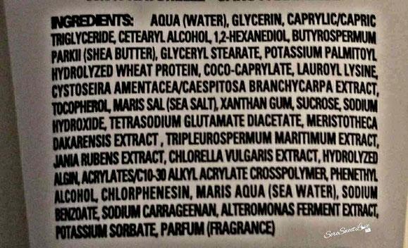 elenco formulazione ingredienti dentro crema mani soha sardinia Hydra maris Inci