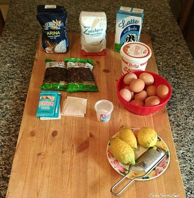 Gli ingredienti per la ricetta ben posizionati
