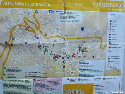 cartina geografica percorso orgosolo