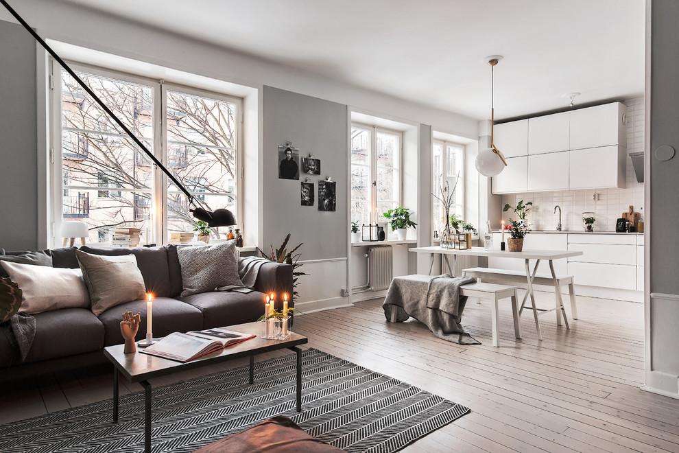 soggiorno e sala cucina nordica