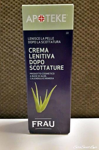 Confezione crema lenitiva dopo scottature apoteke