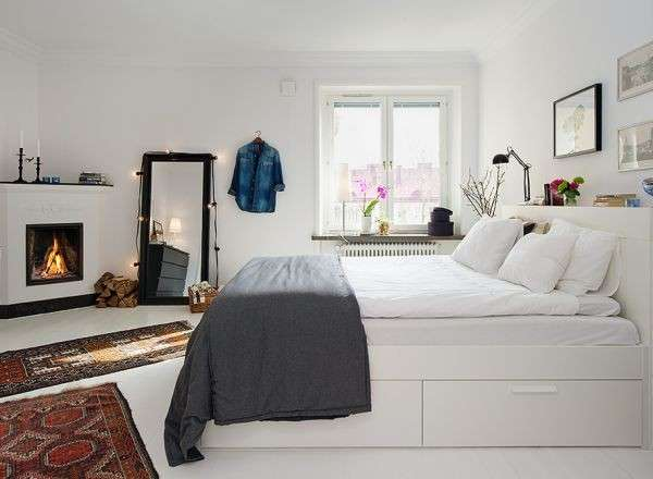 camera da letto nordica