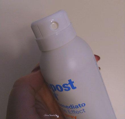 Confezione lozione spray Fotopost Isdin con foro chiuso sicurezza