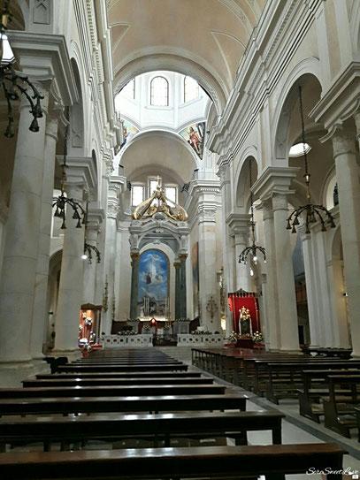 navata centrale basilica di Bonaria
