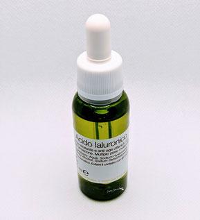 Fronte  flacone da 30 ml Acido ialuronico La saponaria con spiegazione