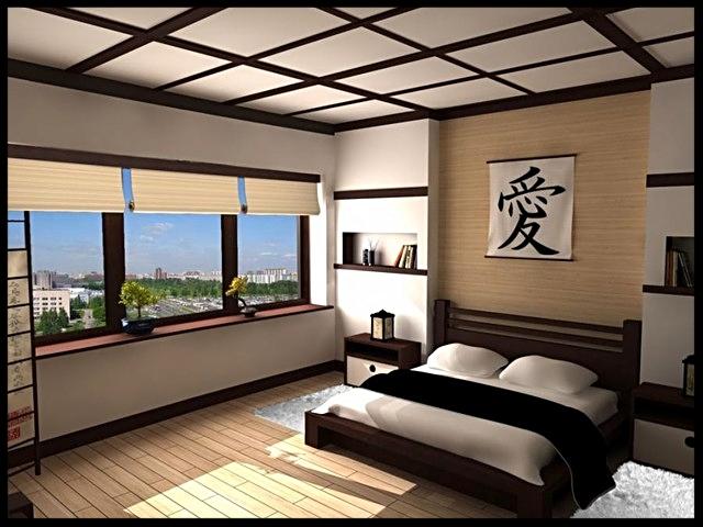 Camera da letto giapponese oggi
