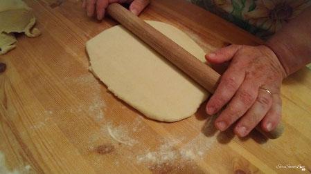 pasta stesa con il mattarello