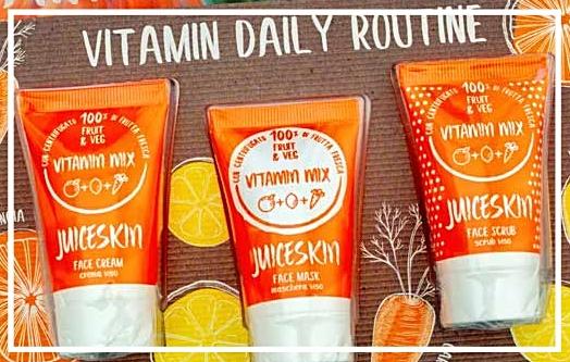 kit vitamin mix  Shaka (maschera viso, crema viso e scrub)