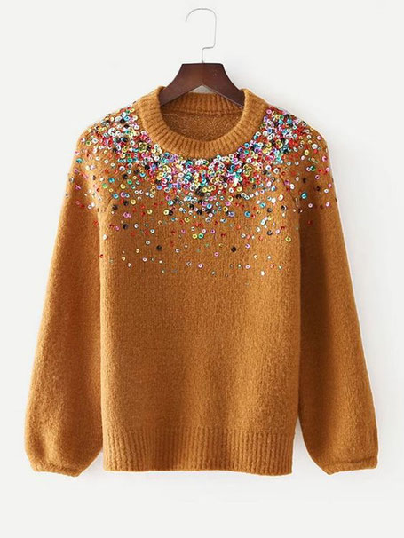 maglione con paillettes by Romwe 2020