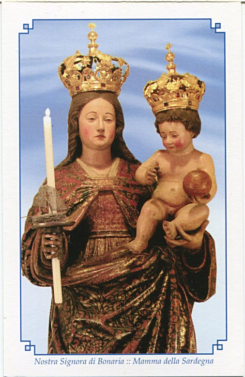 Immaginetta sacra di Nostra Signora di Bonaria
