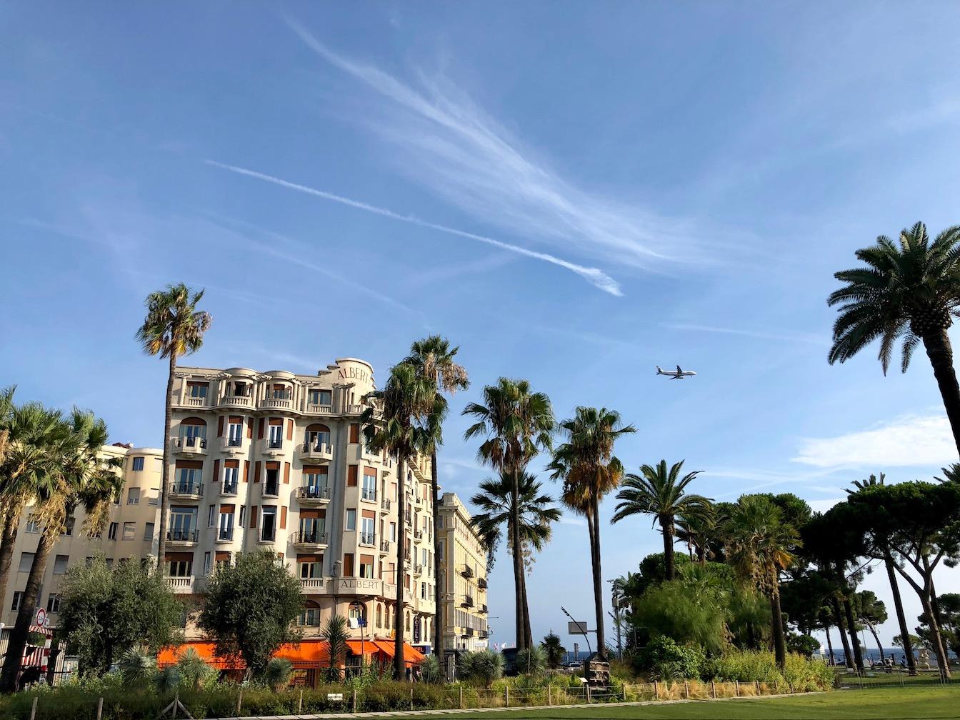 Landeanflug Nizza