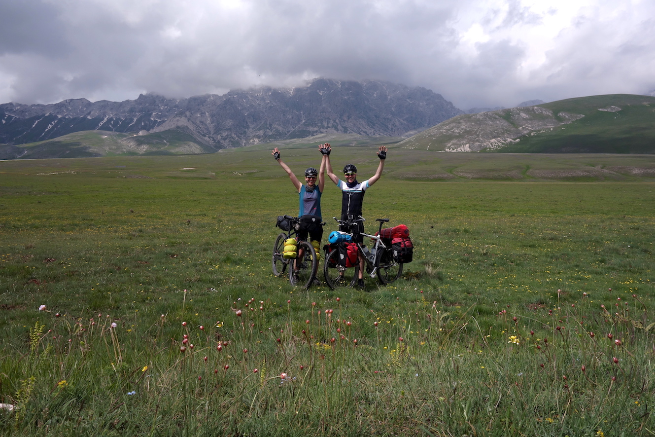 auf Bikepacking Tour in den Abruzzen