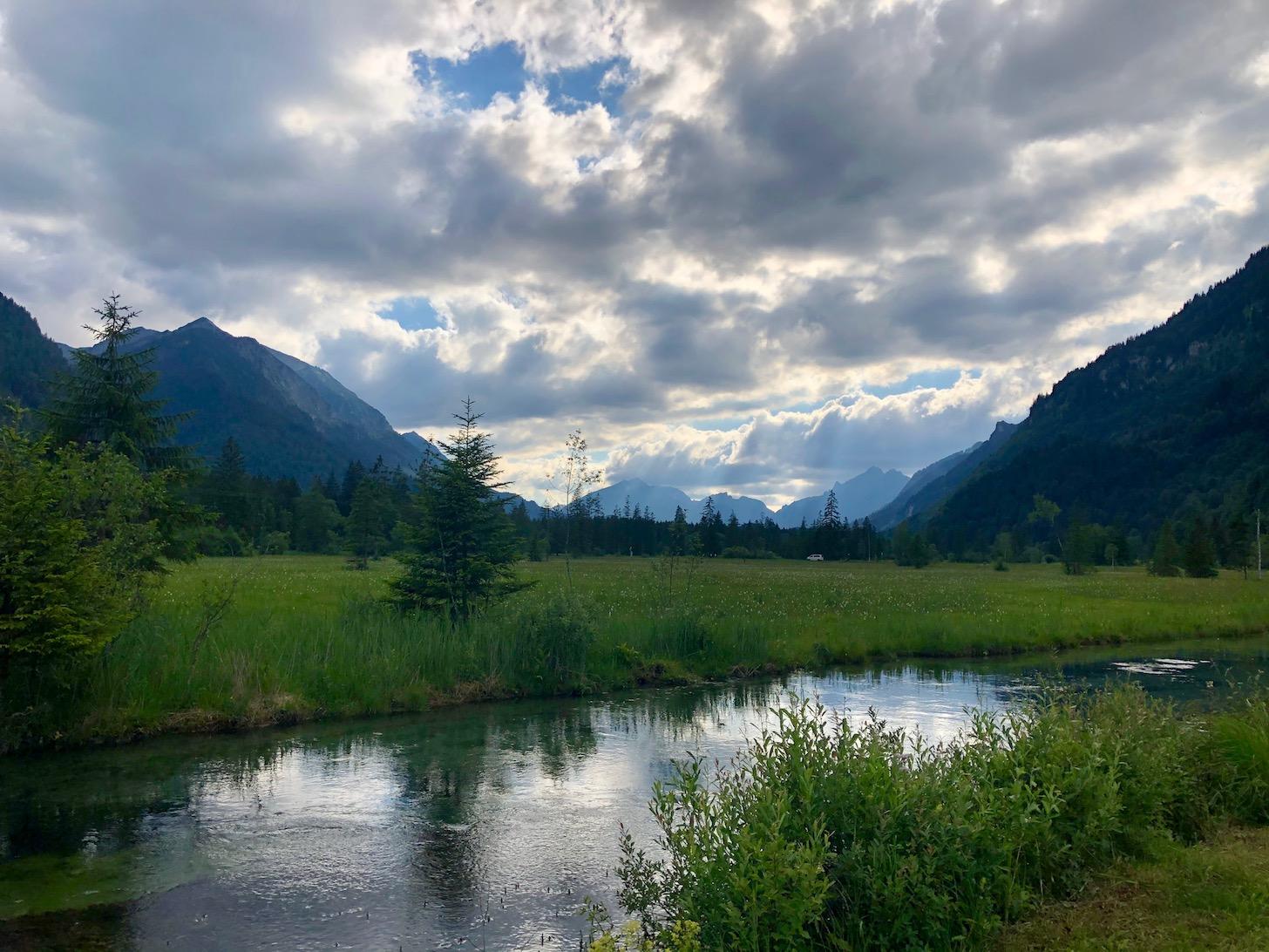 Blick auf die Ammergauer Alpen