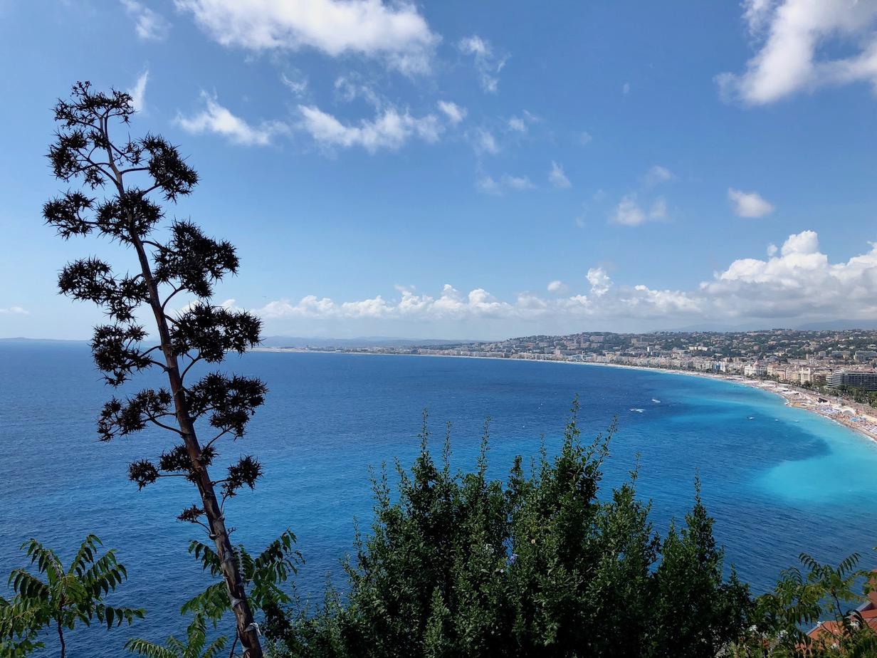 Blick auf die Bucht von Nizza