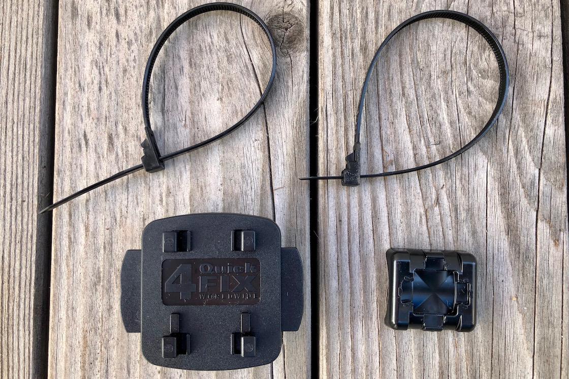 Befestigung mit Kabelbindern - hoch oder quer ist möglich