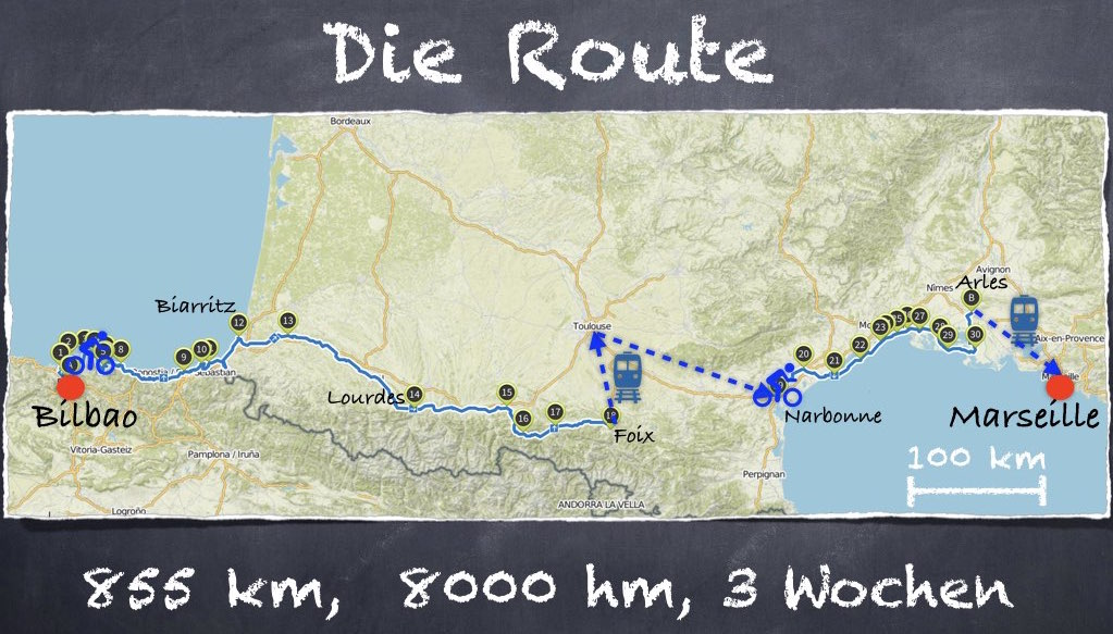Route der Tour du Sud