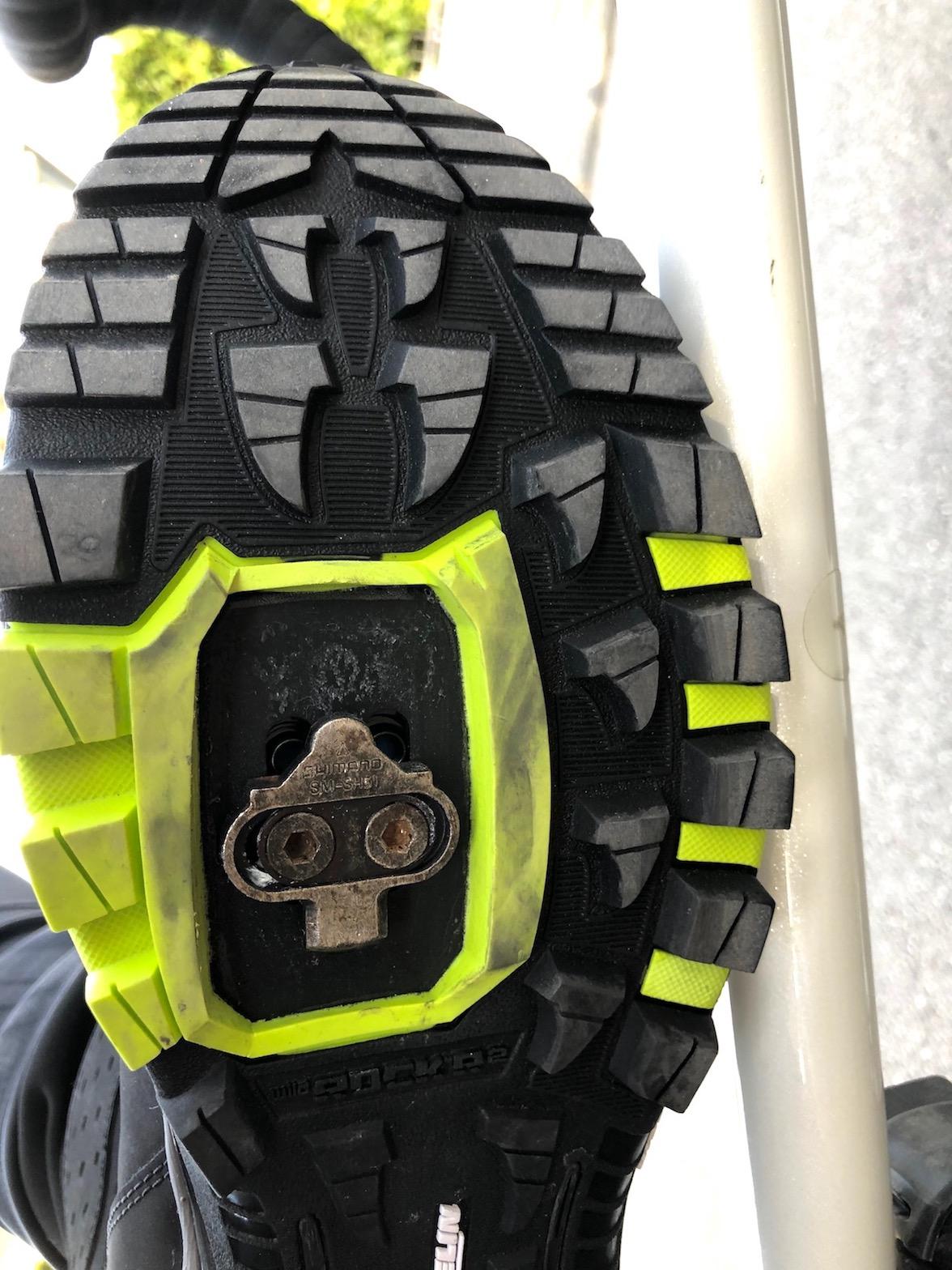 griffige, grobstollige Schuhsohle von Michelin mit montierten Cleats