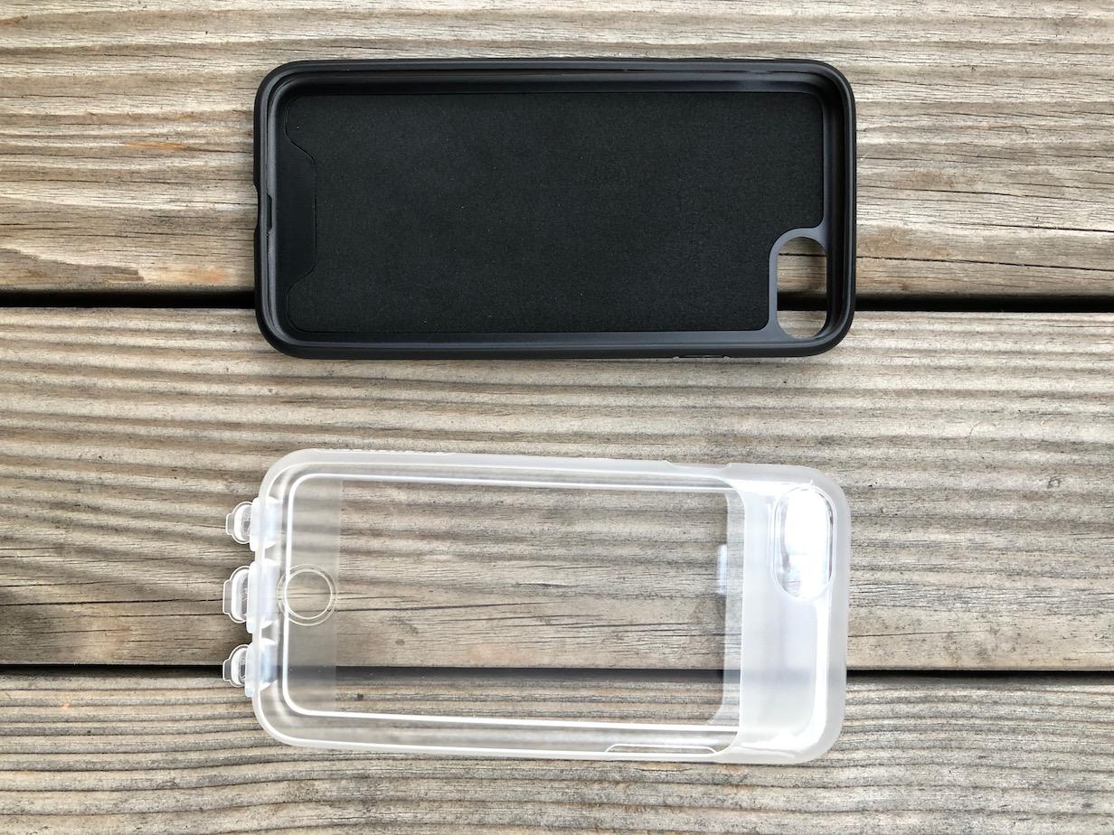 Schale für das Smartphone und transparente Schutzhülle