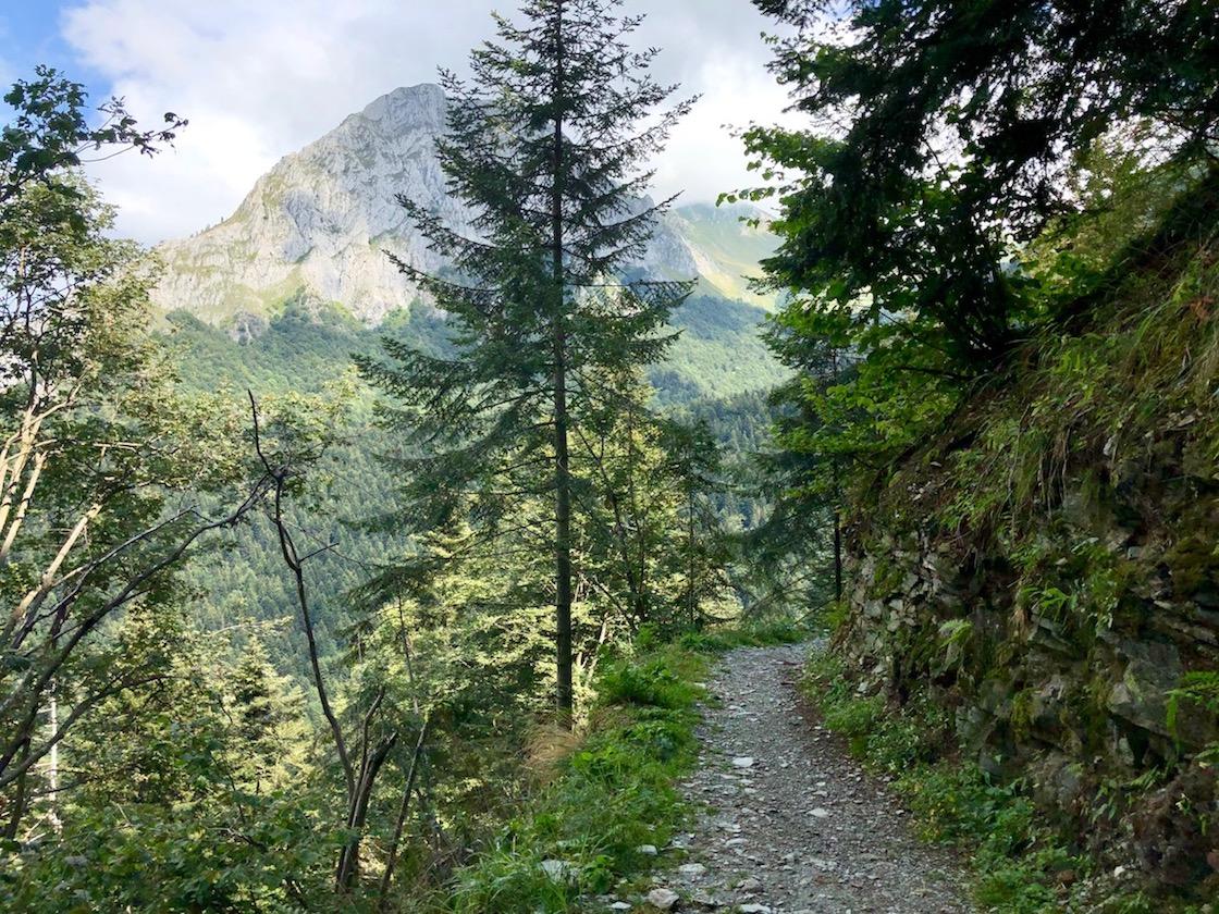 lange Auffahrt zum Passo del Duca