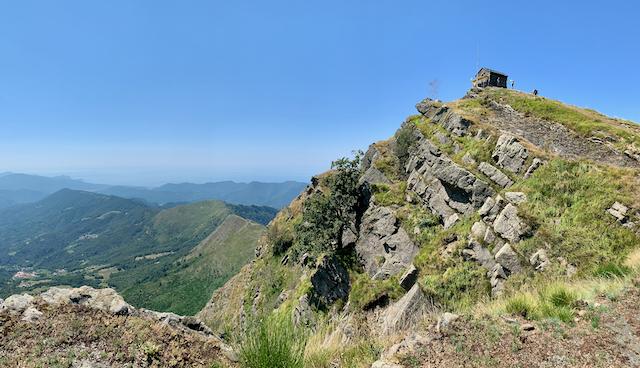 Blick auf die Cappellatta del Monte Ramaceto