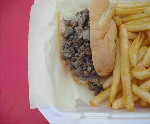 1/2 Cheese Steak from Yellow Lunch Box