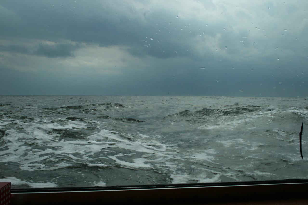 stürmische Überfahrt nach Usedom, Foto: Meinert