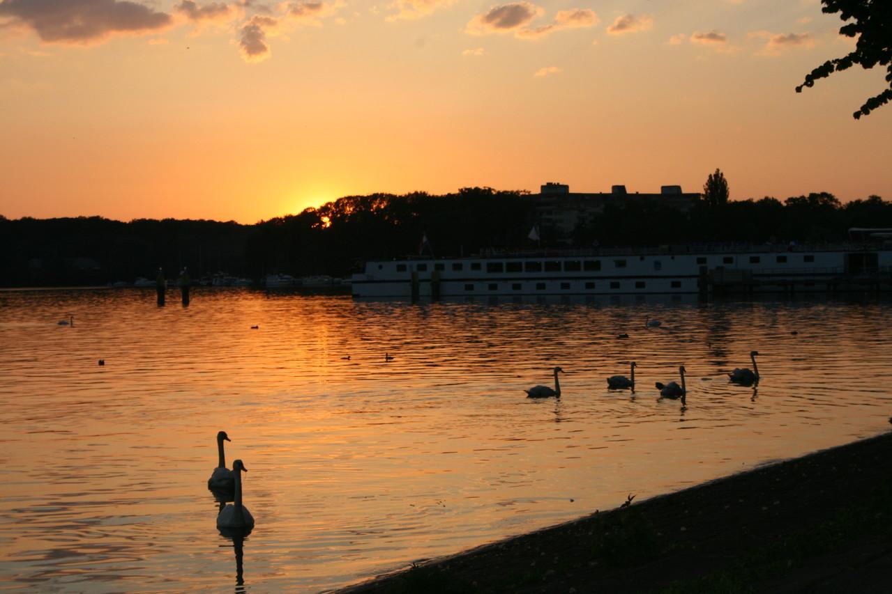 Abendstimmung am Tegeler Hafen, Foto: Meinert
