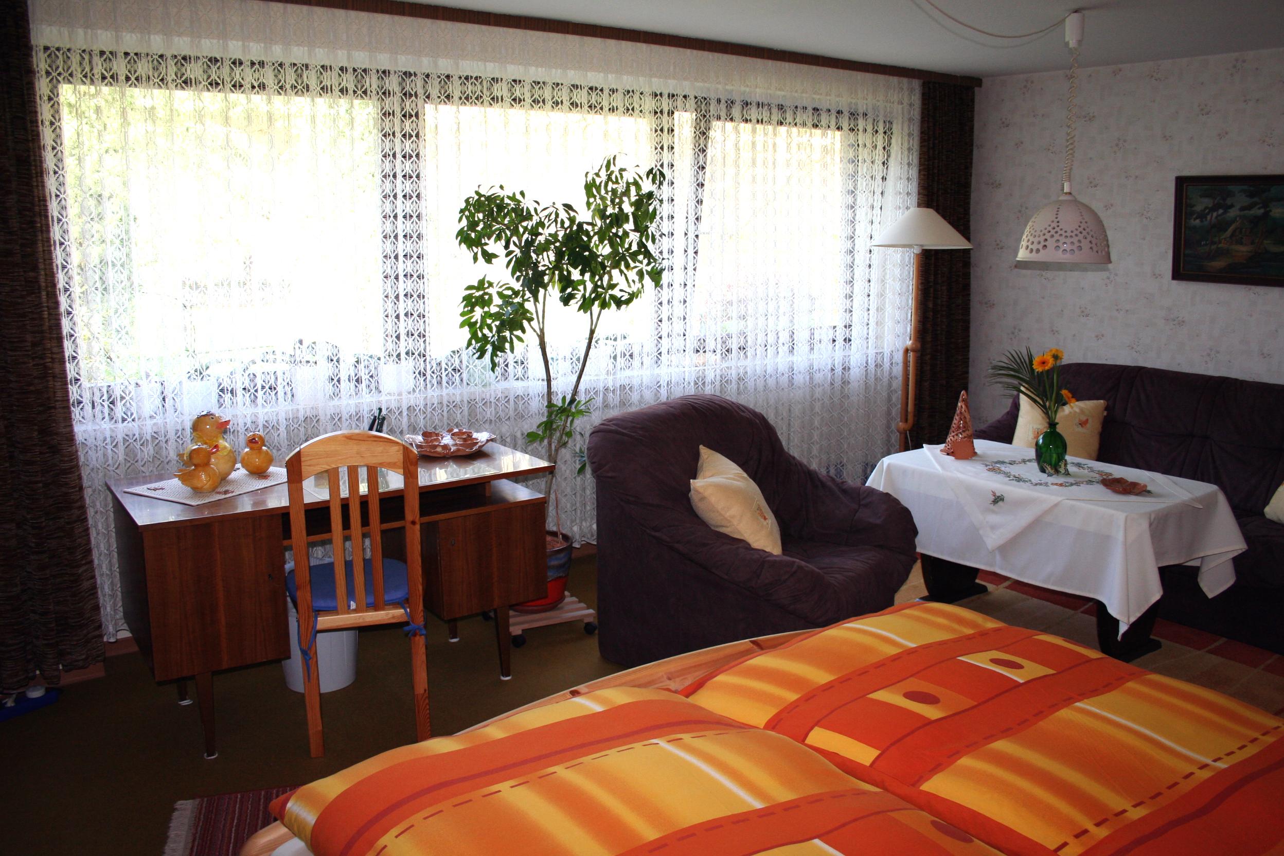 Wohn- / Schlafzimmer in Knauers Ferienwohnung Nr. 1