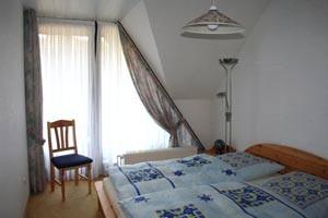 Eines der beiden Schlafzimmer der Wohnung Nr. 3.