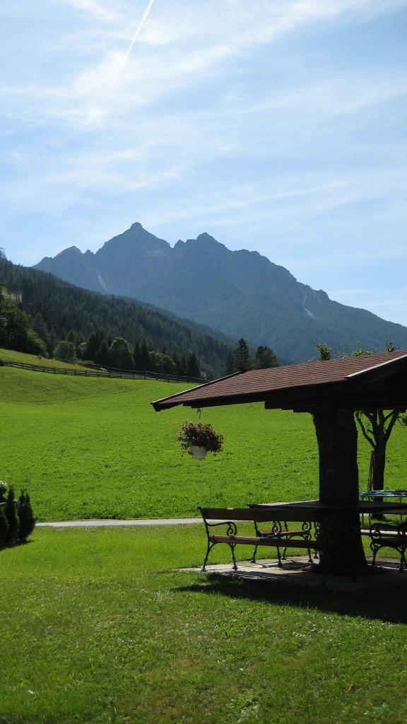 Berg Serles mit unserem Gartenhaus