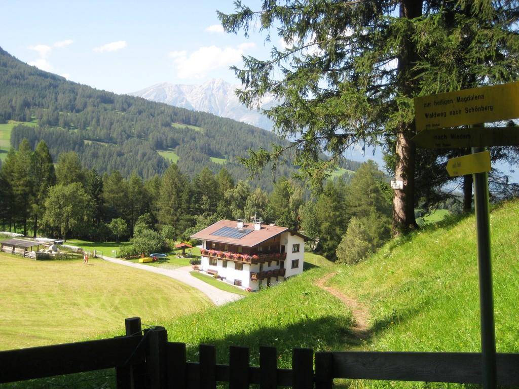 Haus Riedhof ist Ausgangspunkt vieler Wanderungen