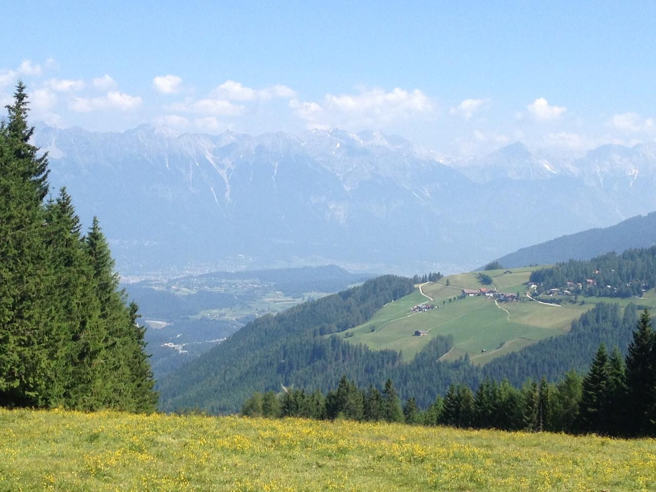 Blick von der Bergstation Hochserles, Mieders